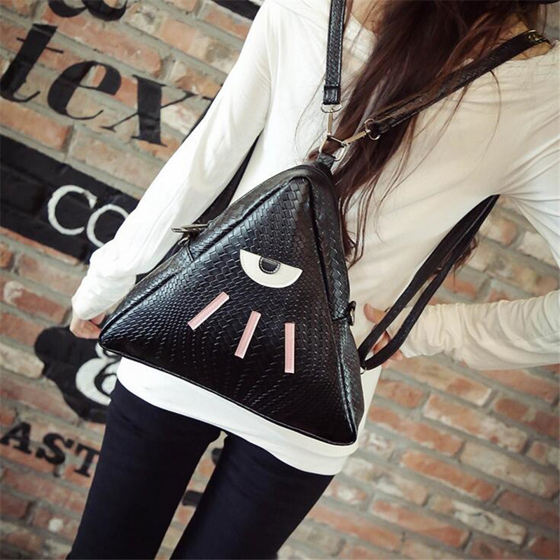2016 new fashionable European and American crocodile pattern shoulder diagonal triangle bag dual use bag shoulder