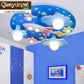 Qiseyuncai 2017  новая Космическая Звезда  детская комната  дистанционное управление  светодиодные потолочные лампы  присоска  купол  для мальчико...