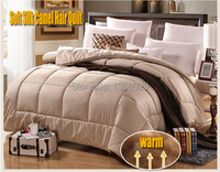220*240cm Camel Hair winter Comforter BrandsTwin Bed Quilt Wool Blankets Edredon Casal Bedding colcha Thick edredom King Size