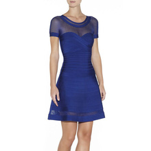 Frauen Verbandkleid, Figurbetontes Kleid Cocktail Party Kleid HL886 # XS S M L
