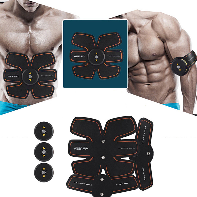 New Smart EMS Stimulator Training Fitness Gear Muscle Abdominal Exerciser Toning Belt Battery Abs Fit Muscles Intensive Training multi function smart ems abdominal muscle stimulator exerciser trainer device muscles training weight loss slimming massager 30