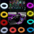 Newest 1M LED Neon Tube for Car Party Wedding Flexible Strip Light LED Shoes Clothing Glow Wire+Controller Home Decoration Lamp