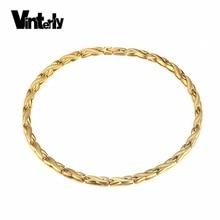 Vinterly Chuỗi Dây Chuyền Vàng màu Thép Không Gỉ Sức Khỏe Germanium Năng Lượng Sinh Học Từ Vòng Cổ cho Phụ Nữ Đàn Ông Jewelry