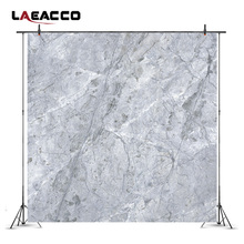 Laeacco Plain Gray Cracked Marble Stone Surface Photography Backgrounds For Photo Studio Vinyl Custom Backdrops Props