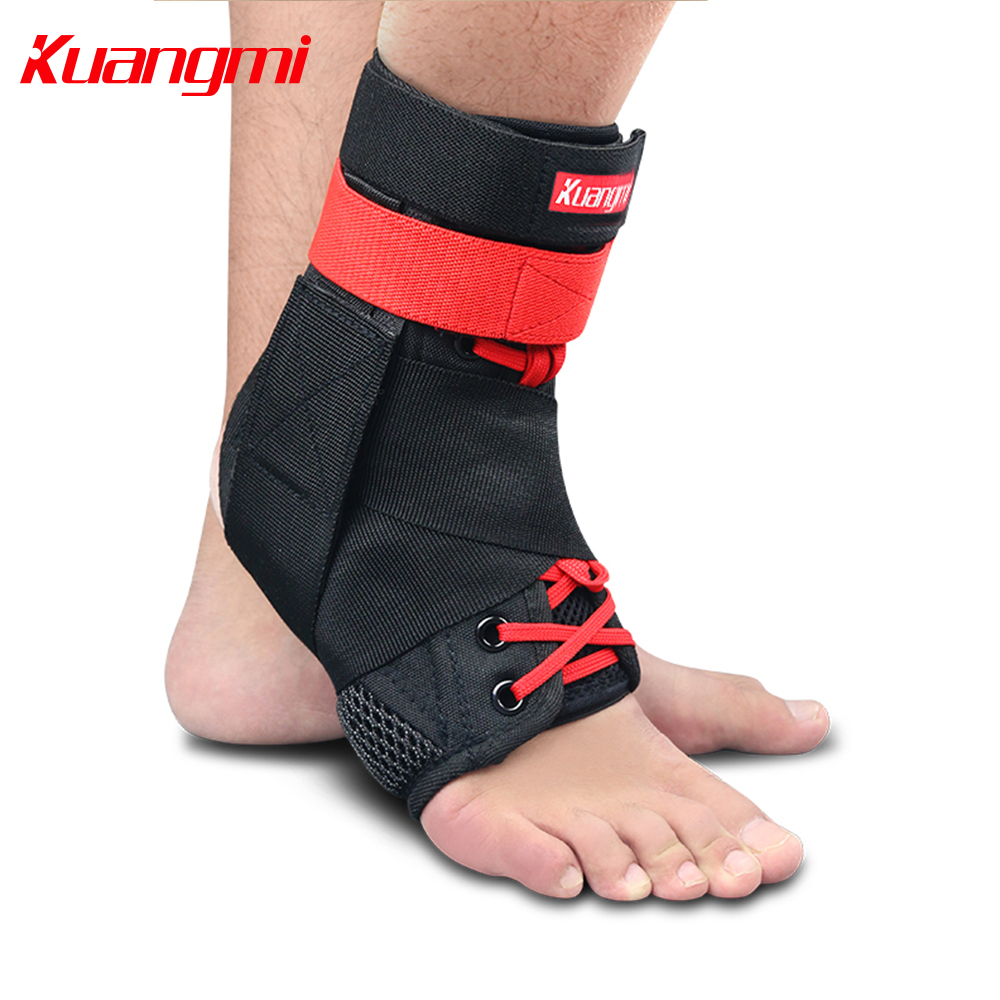 Kuangmi 1PC Ankle Support Dropshipping Sports Ankle Brace Sprained Guard Protector Foot Stabilizer Adjustable Bandage Basketball