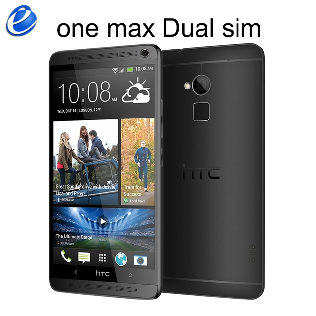 Unlocked HTC One Max Dual sim 16GB ROM 2GB RAM Quad-core 3G Mobile Phone 5.9inch 4MP WIFI GPS HTC ONE MAX Smartphone Android GPS 1
