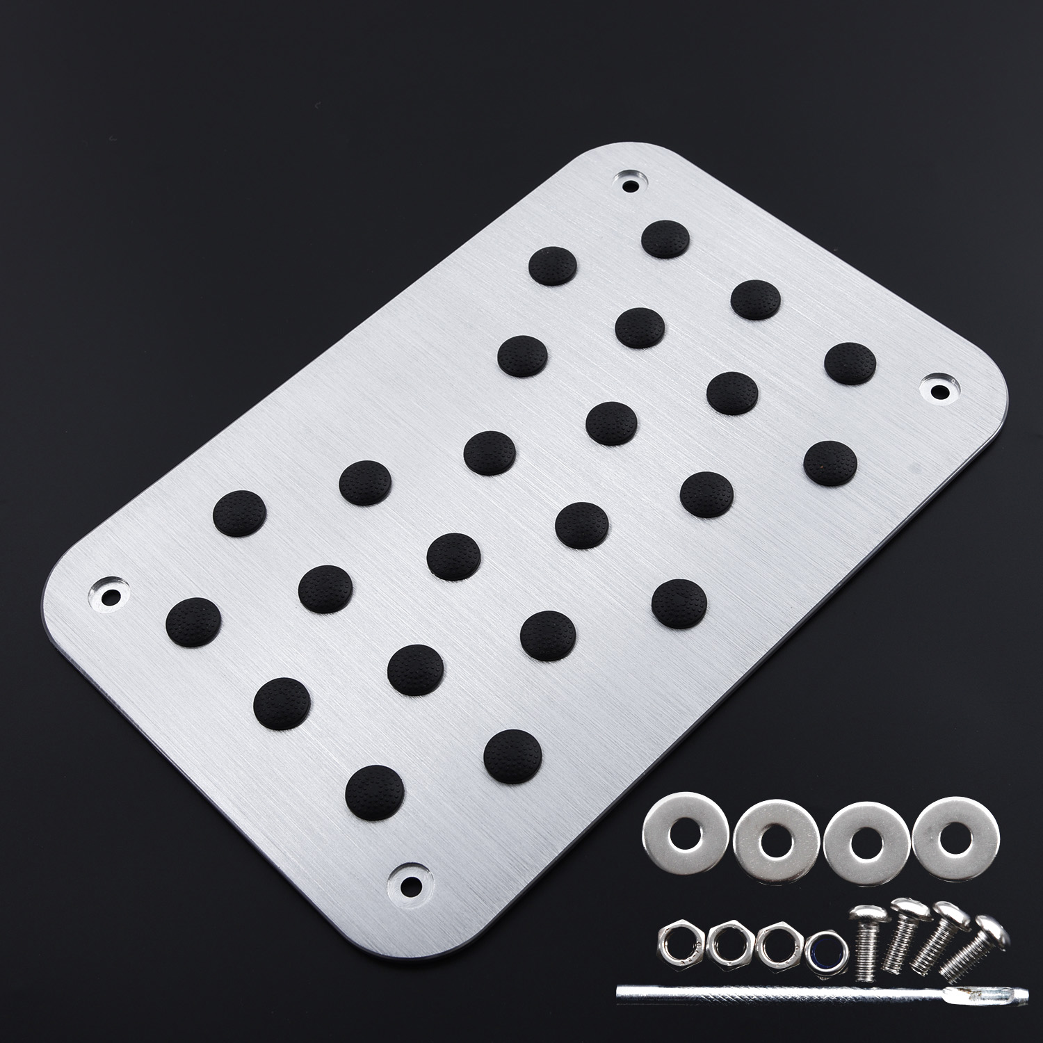 Image 4 - Universal Metal Truck Auto Car Floor Mat Carpet Heel Plate Foot Pedal Rest Decor-in Floor Mats from Automobiles & Motorcycles