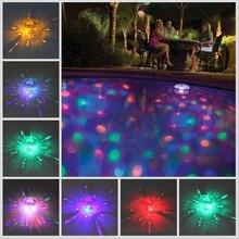 Флэш-плавающий спа-ванна диско подводный многоцветный декоративные бассейн детский ванна партии светильник