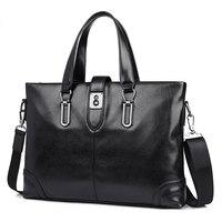 Men Business Bags Fashion Leather Handbags Men's Messenger Shoulder Bags Briefcases