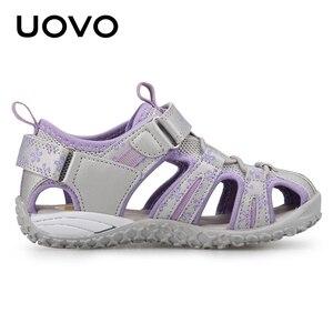 Image 4 - UOVO جديد وصول 2020 الصيف صنادل شاطئ الاطفال مغلق تو طفل الصنادل الأطفال موضة أحذية مصممين للفتيات #24 38