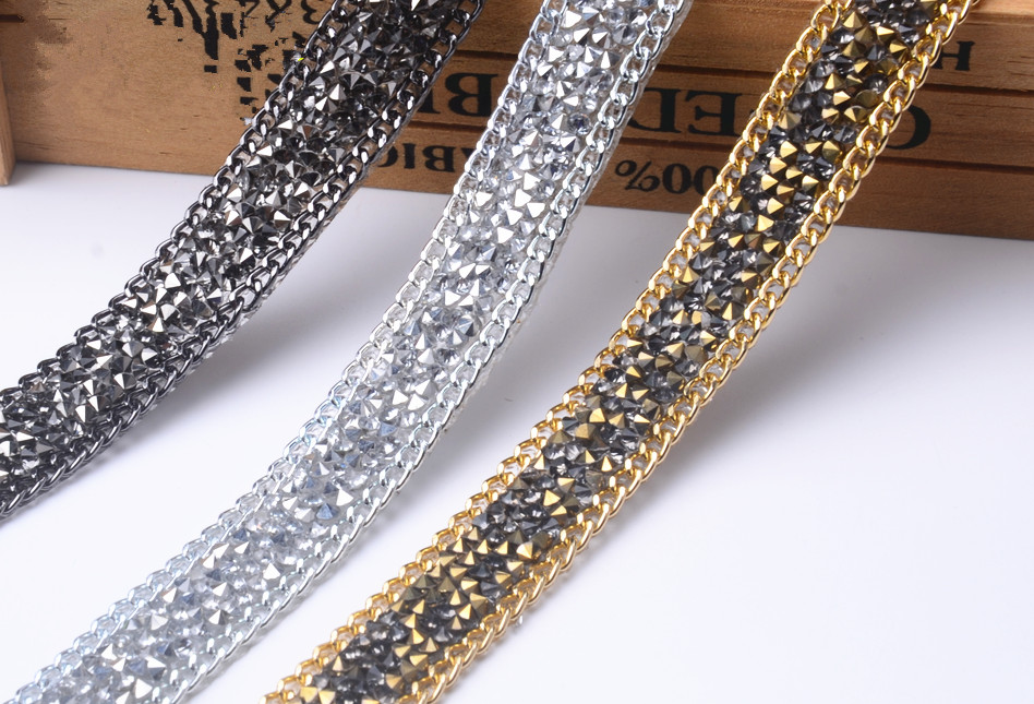 Free ship 2yards lot wedding crystal rhinestone banding trimming ... e12097422177