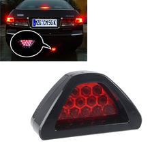 Universal Led Brake Stop Light F1 Style Triangle 12 LED Car Rear Tail Light Reverse Safety Strobe Lamp