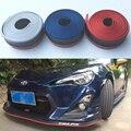 Nuevo de Goma de 3 colores híbrido parachoques Del Coche Tira 2.5 m longitud Exterior Parachoques Delantero Labio Kit/Car bumper Strip Universal