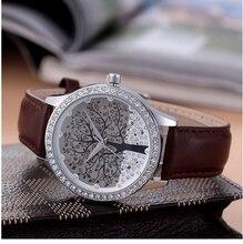 Skone relogios marca de lujo bandwatch con patrón de árbol de Navidad de alta calidad de cuero para hombre reloj para hombre relojes