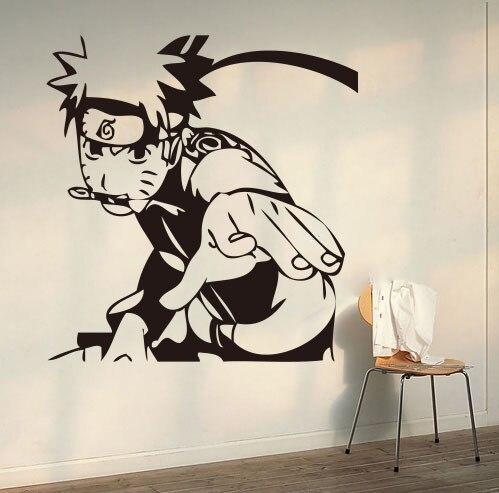 Creativo diy arte de la pared de anime japon s naruto - Pegatinas para las paredes ...