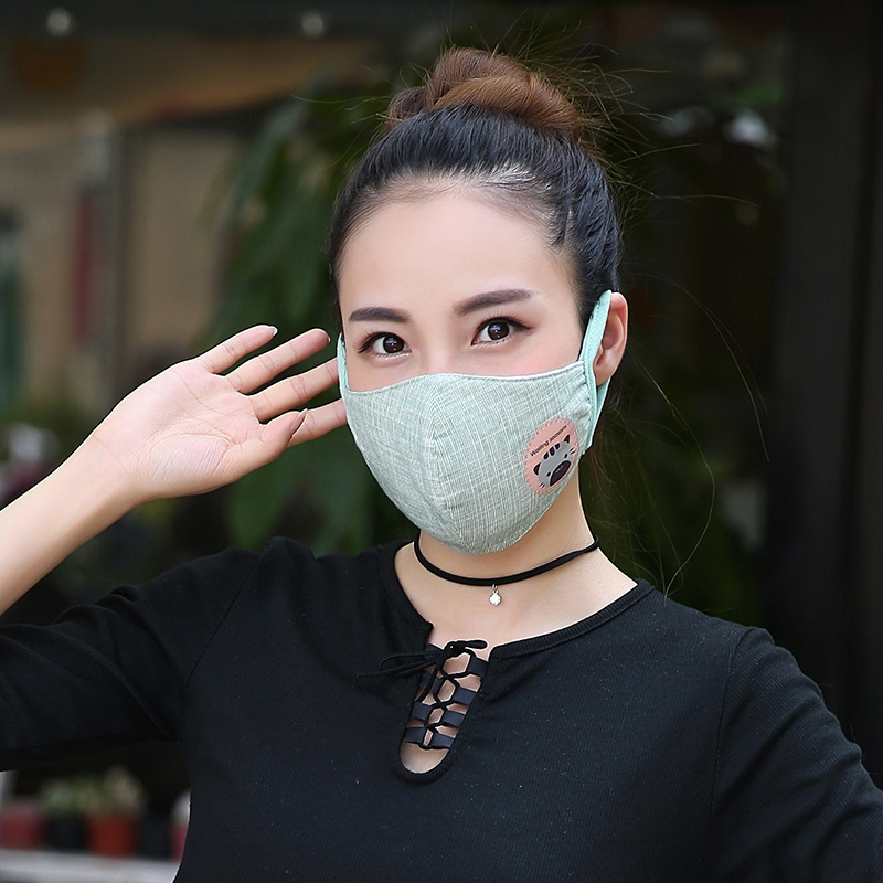 10pcs/Pack Thick Cotton And Linen Three-dimensional Slim Female Mask Fashion Masks Winter Warm Super Soft  Mask For Mouth