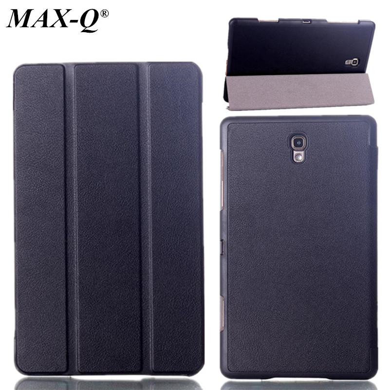 MAX-Q Luxury Genuine Wake/Sleep Original Stand Case,MagSmart PU Leather Tablet Cover For Samsung Galaxy Tab S 8.4 T700 T705