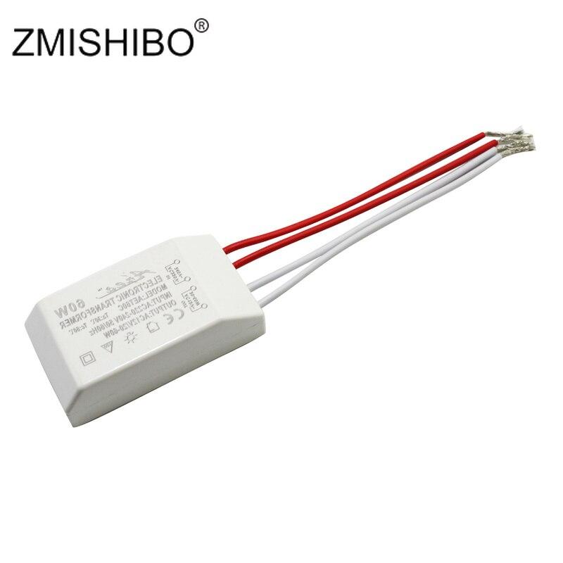 ZMISHIBO Constant Voltage Power Supply AC12V 60W 220V Mini font b Electronic b font Transformer White