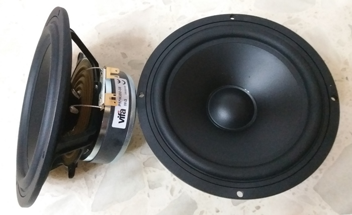 1PCS Original Vifa P17WJ-00-08 6 5   Hifi Midwoofer Speaker Driver Unit Casting Aluminum Frame PP Cone 4 8ohm 80W D170mm Round