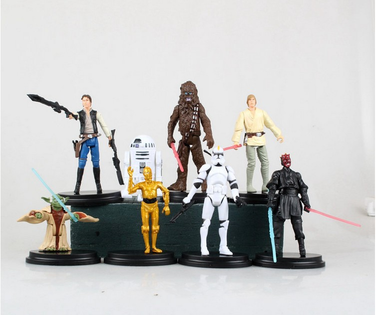 8Pc 3 Generation Star Wars Episode Action Figures Clone Storm Trooper Anime Movie Star Wars Darth Vader Action Figure Function star wars the last jedi yoda obi wan darth vader storm trooper building block compatible with legoinglys starwars action figure