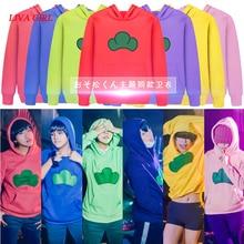Nowe anime osomatsu san Cosplay kurtki z kapturem mężczyźni kobiety Karamatsu Tees Osomatsu san kostium Cosplay na halloween