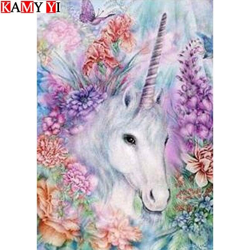 Cartoon Diamond Painting Diamond Mosaic Hand Needle 5D DIY Diamond Embroidery Horse and Landscape Children Decoration Gift