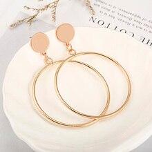 Серьги-кольца золотого и серебряного цвета для женщин, полые круглые массивные подарочный набор украшений для ушей, вечерние, свадебные серьги
