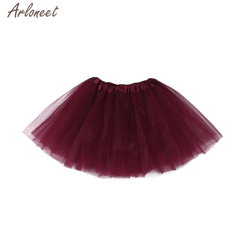 2018 baby skirt tutu Cute High Quality Baby Girls Kids Solid Tutu Ballet Skirts Fancy Party Skirt JAN29 red cute high waisted leather mini skirt