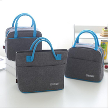лучшая цена Fashion portable Oxford cloth thickening lunch bag men and women picnic lunch bag food preservation insulation lunch bag