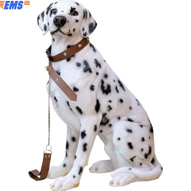 """28"""" Cute Puppy Statue Simulation DALMATIAN GK Home Decor Birthday Gift Action Figure Collectible Model Toy BOX 72CM B422"""