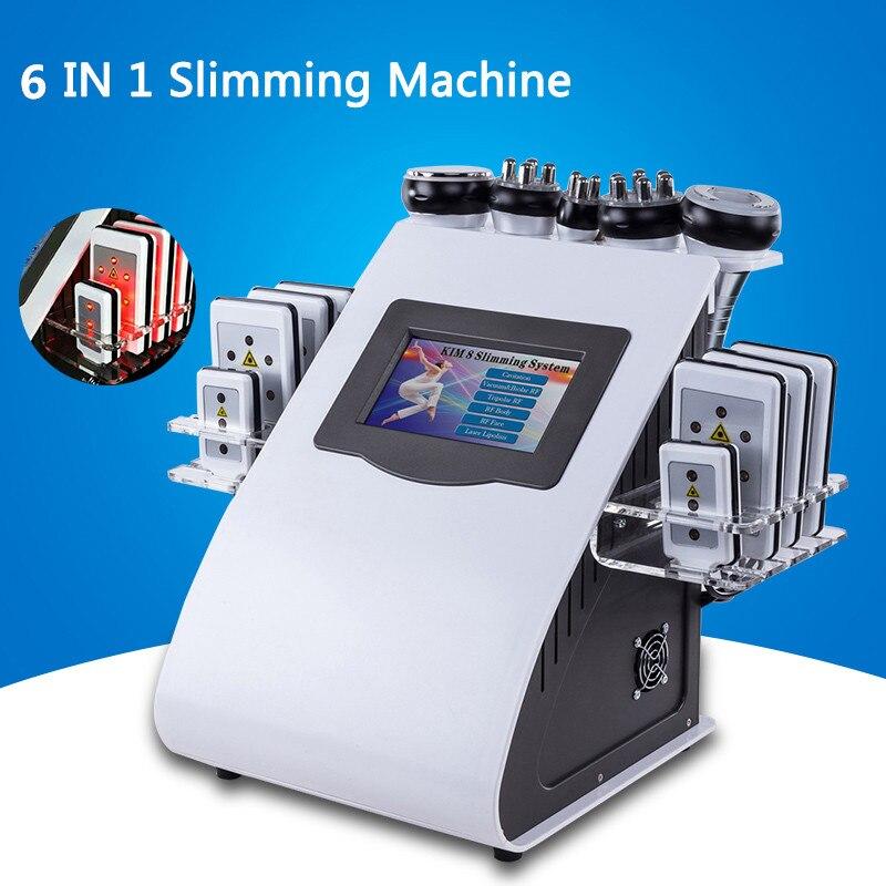 40K kawitacji rozpuszczania tłuszczu 6 w 1 wielobiegunowy urządzenie wyszczuplające RF ultradźwiękowy skóra staje się jędrna waga instrumentu