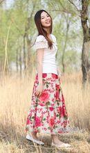 Women's Skirt Muslim Maxi New Fashion Skirt  Printed Skirt 75/85cm  Bohemian  Style A-Line Linen Floor Long  Skirt