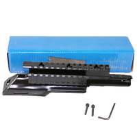 AK47 AKM90 Top Receiver Cover Scope Mount Base Dust Cover with Picatinney Top Rail MNT 970A See Through See Thru AK Rail