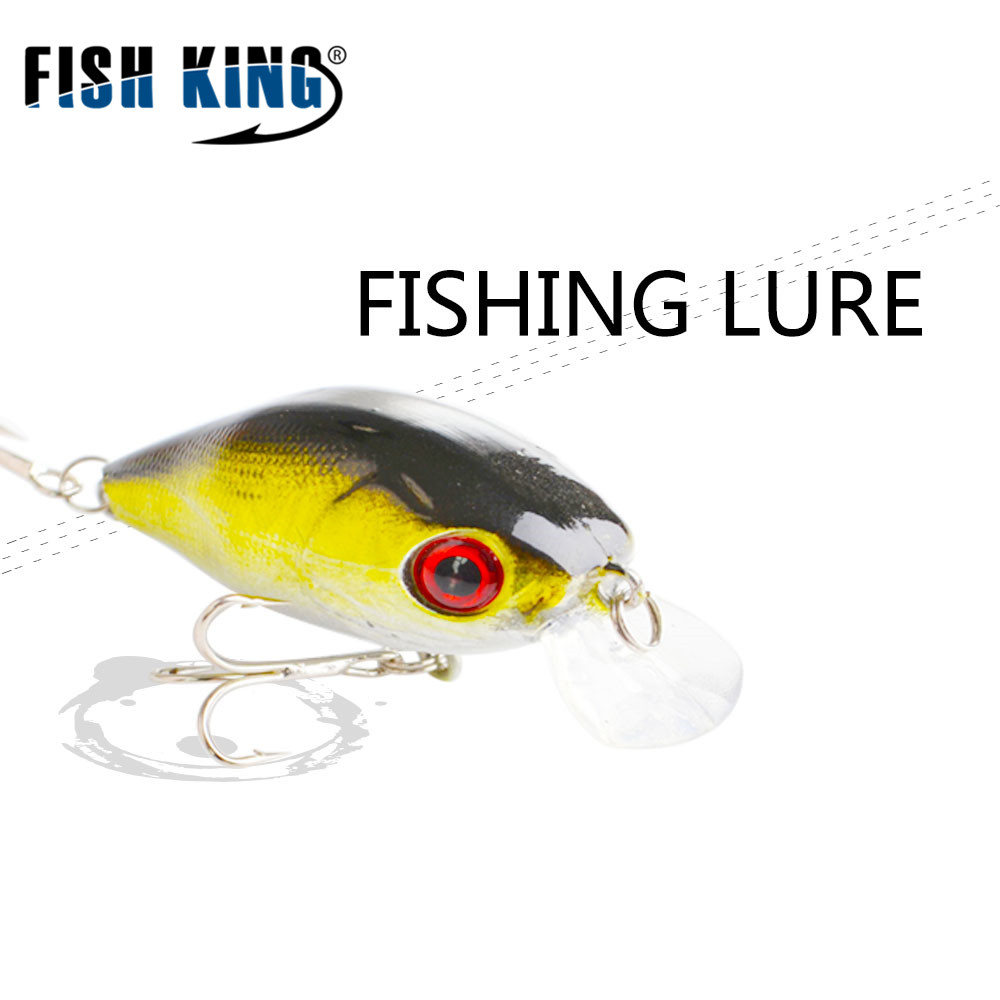 FISH KING Crank Bait  50MM / 6.9G  Artificial Bait Fishing lure 5 colors  Fishing tackle