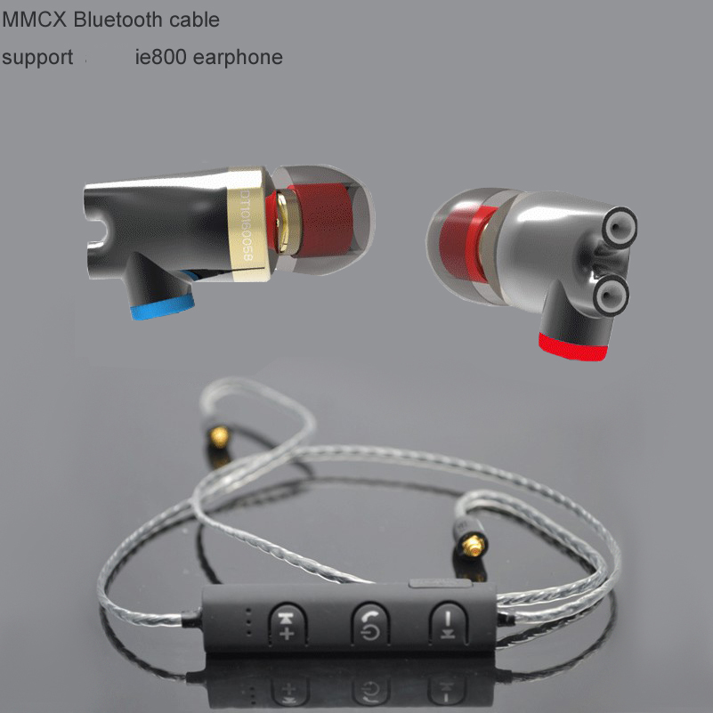 2017 izk Wireless Bluetooth 4.1 Cable HIFI Earphone MMCX Cable Support  bt ie800 earphone Use For shure SE846 se535 shure shure se215spe bt1 мощный бас уха беспроводная гарнитура bluetooth спортивный hifi телефонный звонок специальный выпуск синий