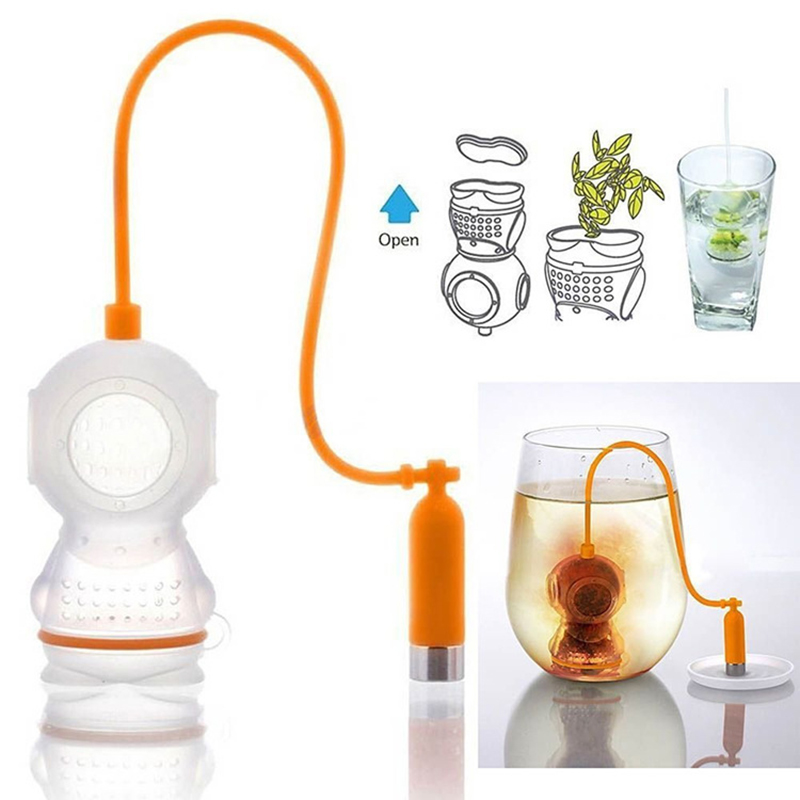 Creativity Puer Tea Infuser Silicone Reusable Tea-leaf Strainer Bag Mesh Coffee Infusers Mug Coffee Filter Kitchen Accessories
