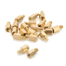 Mayitr 20Pcs M3 6 4mm O4L0 PCB Brass Standoff Hexagonal Spacer for PC Motherboard
