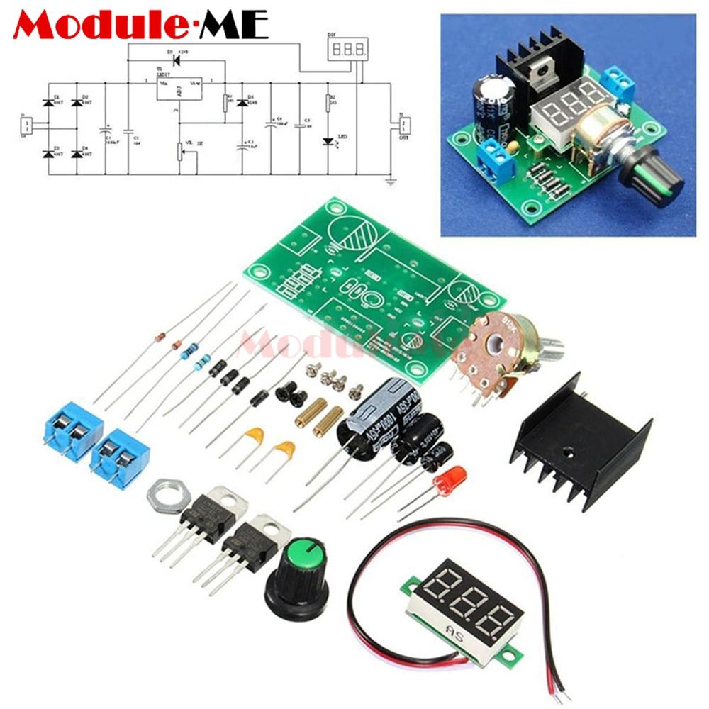 LM317 Adjustable Voltage Regulator Power Board DIY Kit Production Electronic DIY Large Secondary School Graduation Design Parts