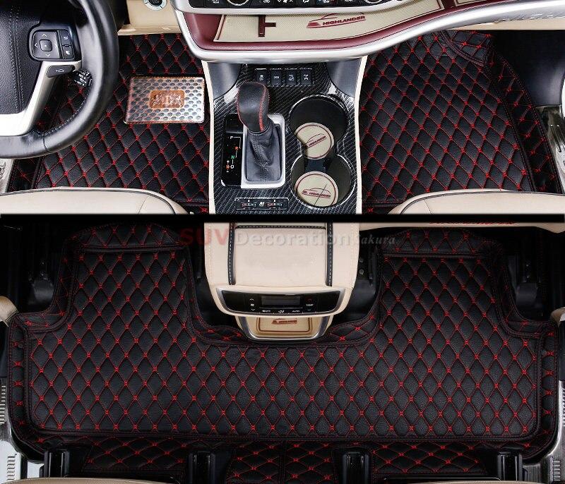 5 seats For Toyota Land Cruiser Prado FJ150 2010-2013 Accessories Interior Leather Carpets Cover Car Foot Mat Floor Pad 1set black rear trunk cargo cover shade for toyota land cruiser prado fj150 2010 2011 2012 2013 2014 2015