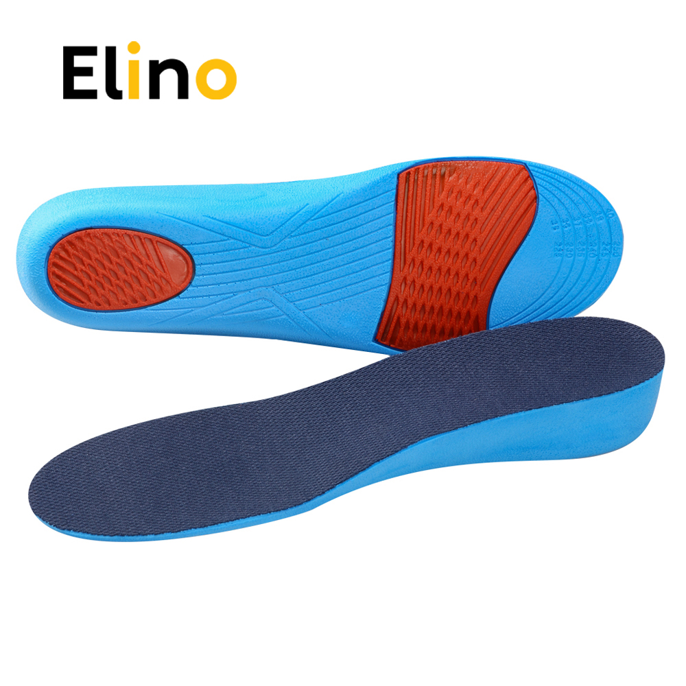 Elino Comfortable Unisex Invisible Anti-slip PU Breathable Mesh Height Increase Heel Lift Taller Foot Care Shoes Insoles
