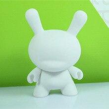 Wholesale 5pcs/set 3inch Kidrobot Dunny DIY Paint Action Figure White Color With Opp Bag