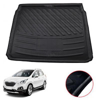 Fit For Peugeot 3008 II MK2 2017 2018 Car Cargo Liner Trunk Luggage Mat Tray Protective Carpet Interior Accessories Styling