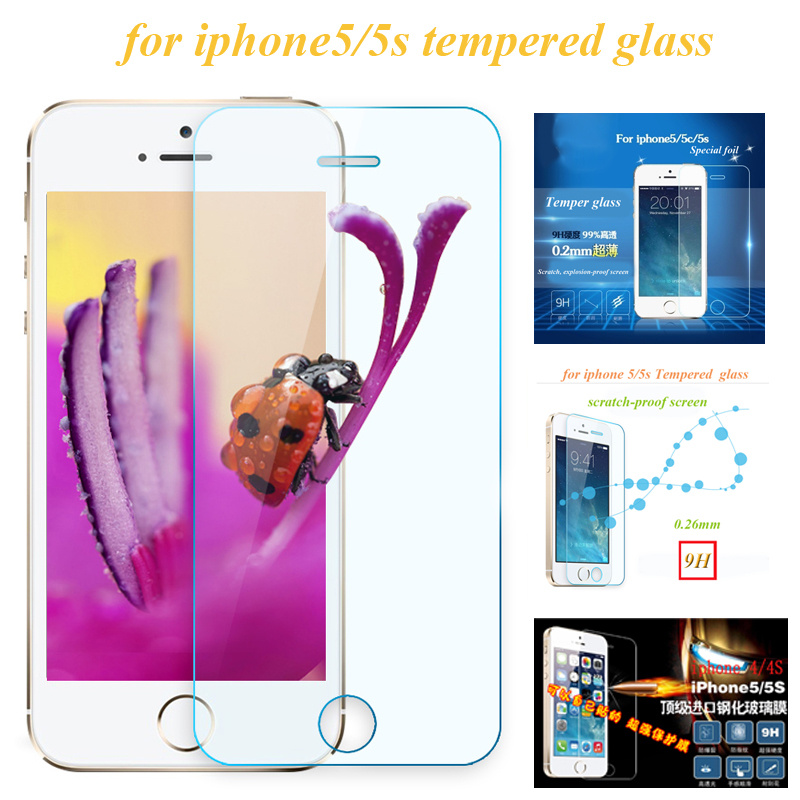 wangcangli protective glass for iphone 5 5s tempered glass protective glass on the iPhone 5S mobile protective film accessories in Phone Screen Protectors from Cellphones Telecommunications
