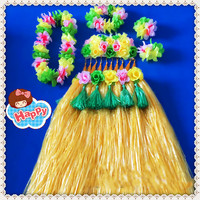 1sets/lot S823# Event & Party suppliers Hawaiian Hula Grass Skirt Flower Party Dress Beach Dance Costume Free Shipping