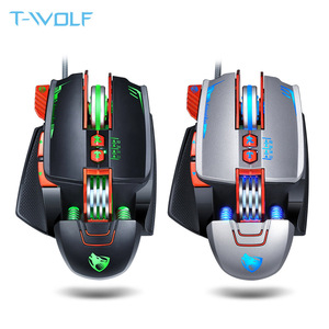 Image 1 - NEW V9 USB Wired Programmable Gaming Mouse 3200DPI Adjustable Backlight 8 Custom Button Mechanical Gaming Mice for Pro Gamer/LOL