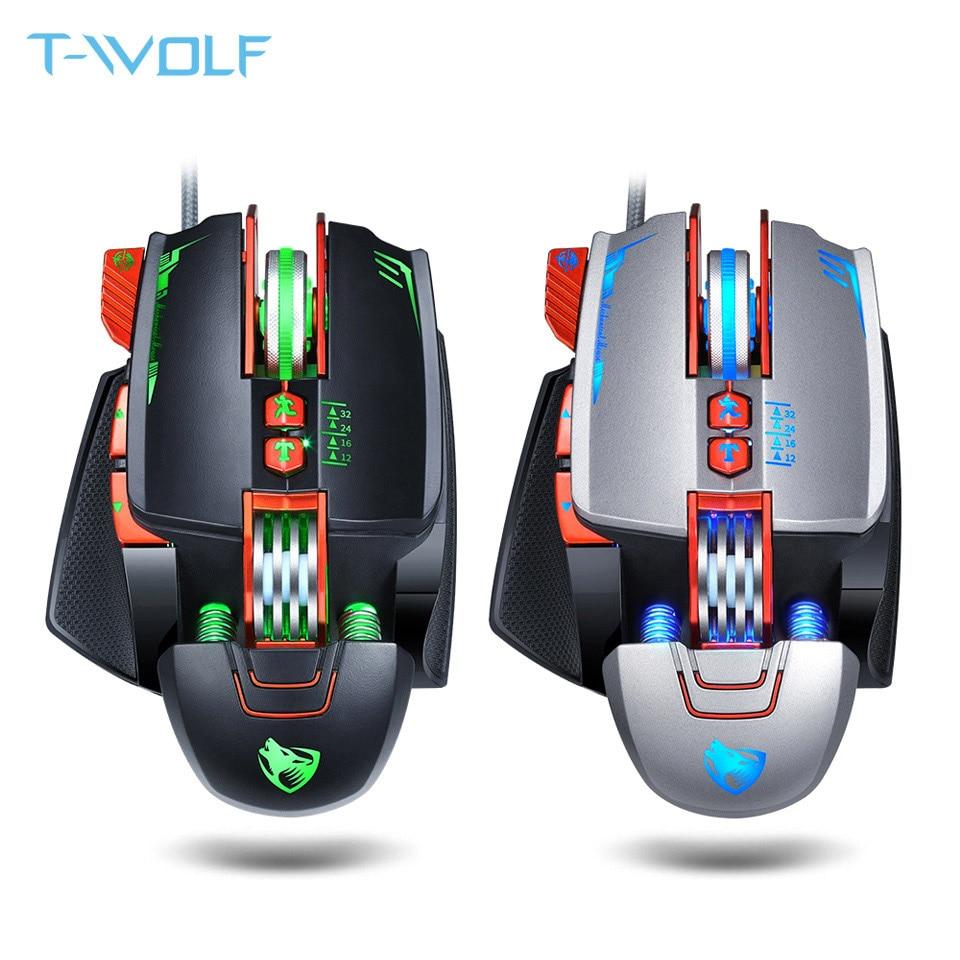 NUOVO USB Wired Retroilluminazione Programmabile Gaming Mouse 3200 dpi Regolabile 8 Personalizzato Bottoni Meccanico Gaming Mouse per Pro Gamer/ LOL