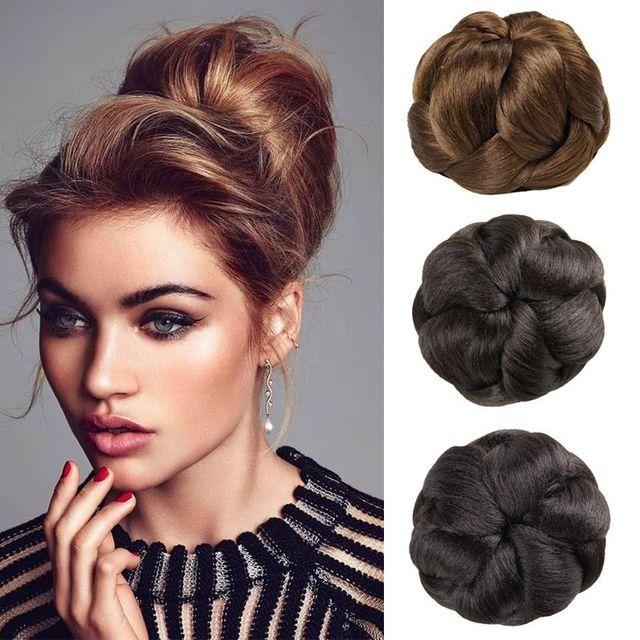 1pc Black Brown Blond Chignon Bun Hairpiece Women Hair Buns