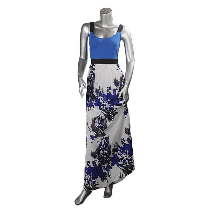 Sexy Plus Size Women Sleeveless Dress Floral Print Slim Sundress New summer 2018 elegant vintage patchwork dress