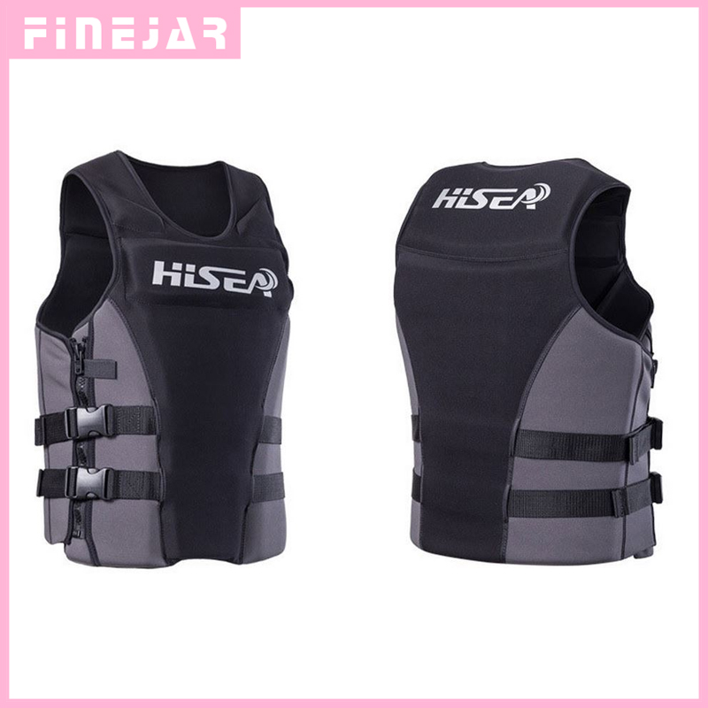 Hisea Professionl Buoyancy Life Jacket Vest With Material Neoprene for Men Women Surfing Motorboat Fishing