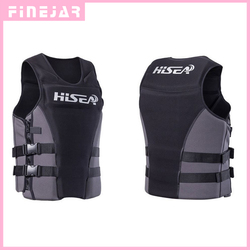 Hisea Professionl Buoyancy Life Jacket Vest With Material Neoprene for Men Women Surfing Motorboat Fishing